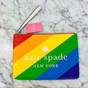 Kate Spade Pride Rainbow Large Zip Pouch Wristlet